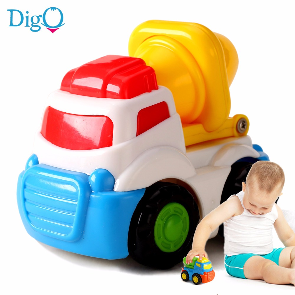 baby boys little toy car kids cartoon model plastic inertial car mini engineering vehicles toy for