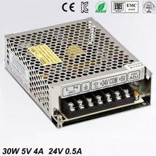 Double sortie d'alimentation pour bande lumineuse LED, Ultra mince, SMPS 90 V - 264 V AC entrée 5V 24 V sortie D-30 B, 5V 4A 24 V 0.5A