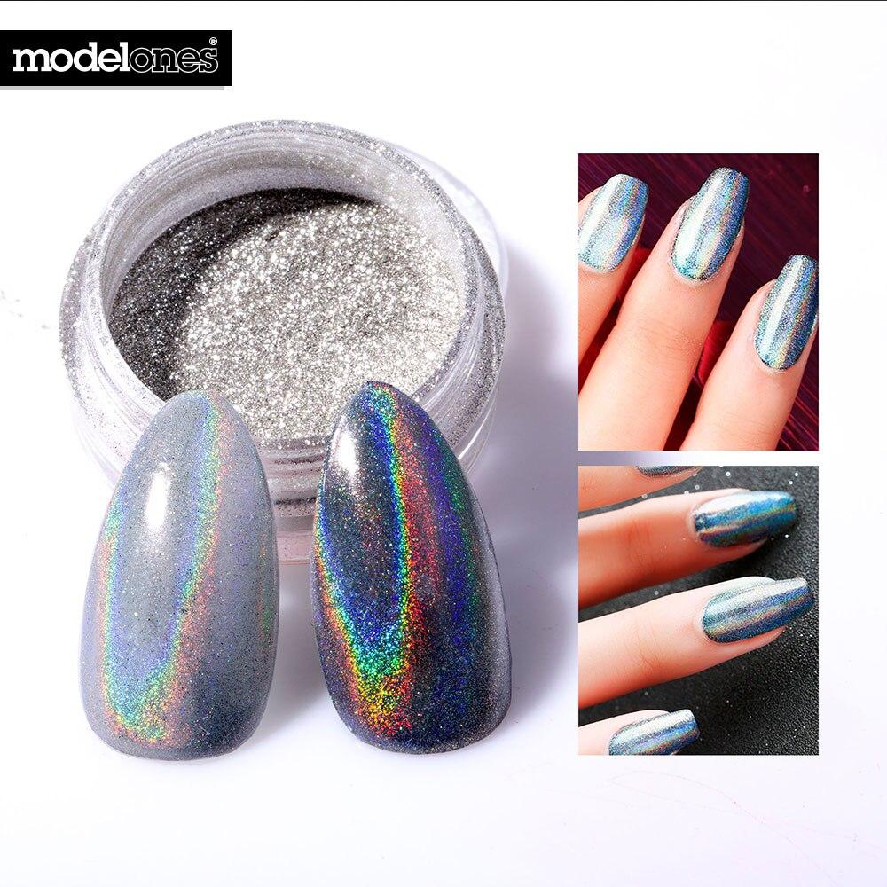 2017 Hot Sale Íris Holográfica Rainbow Espelho Pó Glitter Pó Prego Alta  Qualidade Chrome Espelho do Pigmento Em Pó 0.5 g caixa 51f06dd1f81e4