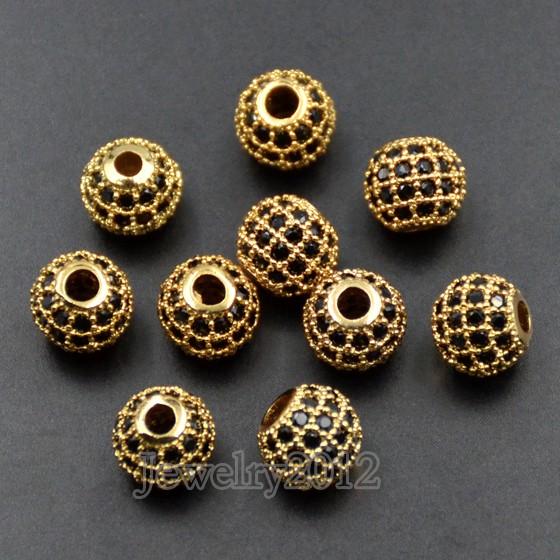15 Black Zircon on Gold