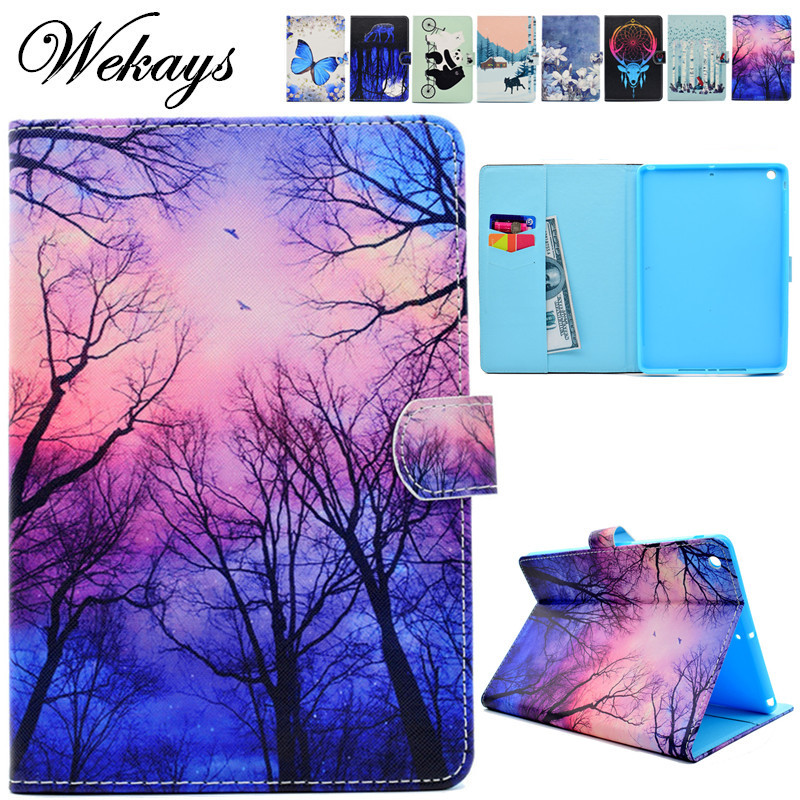 Wekays For Apple IPad Air 2 IPad 6 Cartoon Flower Leather Flip Fundas Case sFor IPad Air 2 IPad6 Tablet Cover Case For IPad Air2 godox tt600s flash speedlite for sony multi interface mi shoe cameras a7 a7s a7r a7 ii a6300 etc