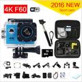 gopro hero 4 style F60 Ultra 4k Action Sport Camera Wifi 2.0 Lcd 170 Degree Wide Lens Helmet Cam Underwater Waterproof Camera