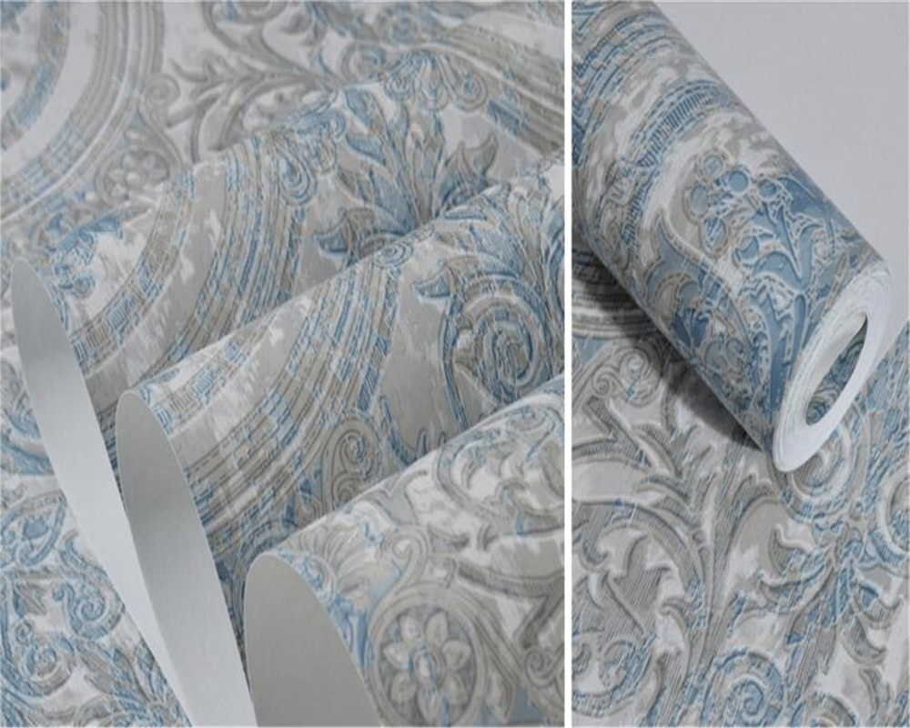 Beibehang Retro European Style Flower Patterns Anyway Paper Wallpapers Bedroom Living Room High End Hotel Gray 3d Wallpaper roll beibehang wallpaper for walls 3 d elegant jane european style wallpapers living room bedroom book full house 3d wallpaper roll