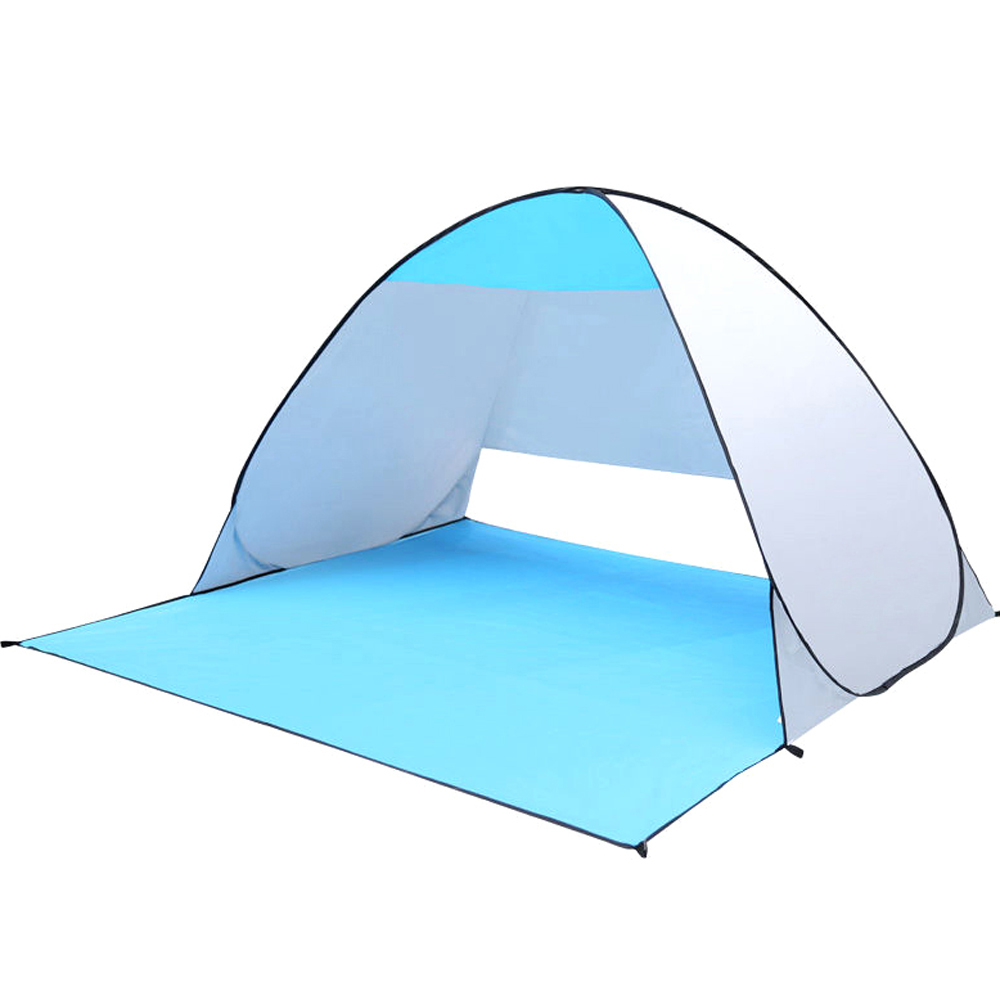 Quick Automic Opening Beach Tent UV-protection Camping Sun Shelter ice fishing Tents Waterproof Polyester Fabric 1x 200 200 160cm summer outdoor camping sun shelter uv protection beach shade fishing tent portable roof tent for swimming boat