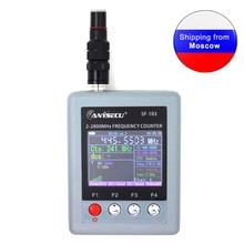 Anysecu SF103 2MHz 200MHz / 27MHz  2800MHz Портативный счетчик частоты CTCCSS/DCS Testable, DMR Цифровой измеритель сигнала SF 103