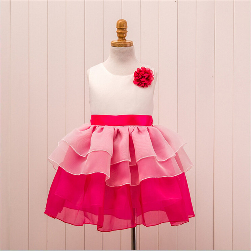 Baby girl party dress summer sleeveless toddler girl princess flower dress girl clothes ball gown tutu dresses children clothing baby princess girl dress 1 2 3 birthday party for toddler girl clothing stripe tutu dress children casual dresses infant clothes