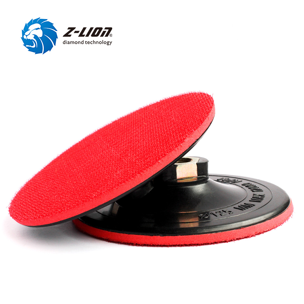 "5""//125mm M14 Velcro Rubber Backing Pad Soft Sanding Disc Stone Wood Polishing"