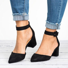 Women Sandals 2019 Fashion Low Heels Sandals For Summer Shoes Woman Casual Block Heel Zapatos Mujer Plus Size 43 Sandale Femme