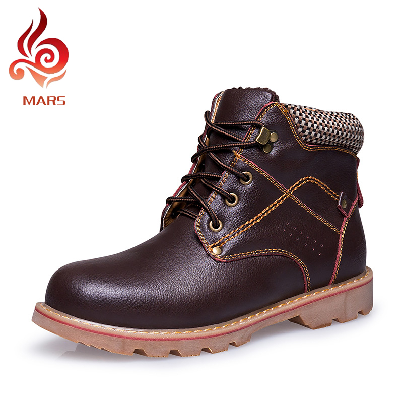 2016 Men Work Shoes Handmade Split Leather Winter Boot Men Warm Ankle Boots Men Casual Work&Safety Boots Size:39-43 TX1892-2 arrival fashion men winter shoes keep warm plush ankle boot snow work shoes outdoor men casual boots man zapatillas size 39 44