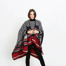 Winter Women Casual Rhombus Poncho Luxury Brand Blanket Scarf Femme Tartan Foulard Bufandas Mujer YJWD822