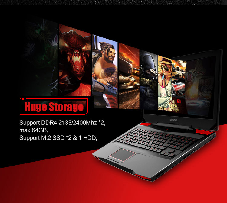 "HTB1B3mMrH1YBuNjSszeq6yblFXae Bben G17 Gaming laptop NVIDIA GTX1060 GDDR5 17.3"" pro windows10 intel 7th gen. i7-7700HQ DDR4 8GB/16GB/32GB RAM M.2 SSD"