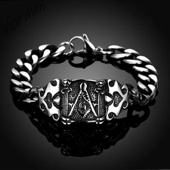 Men cool vintage bangels H029 Fashion 316L stainless steel bracelet for man