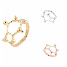 yiustar Fashion Jewelry Rings Caffeine Molecule Ring  Chemistry Jewelry Science Jewelry for Women Gift R157