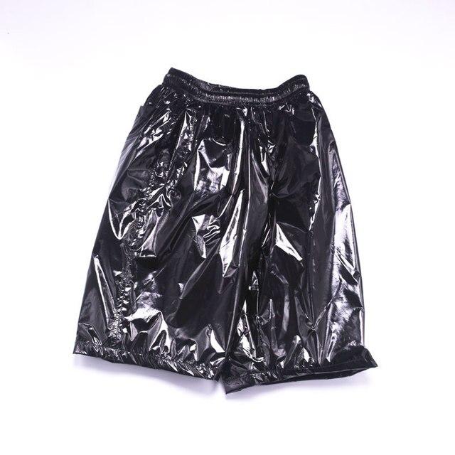 Fashion Men Shiny Metallic Shorts Night Club Dancing Wear Sexy Shorts Plus size 8XL Summer Motorcycle Metallic Short Pants X9097 2