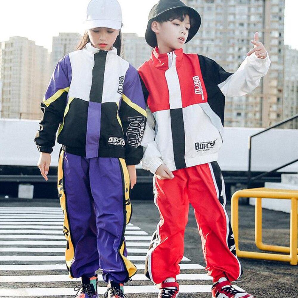 Enfants Cool lâche salle de bal Jazz Hip Hop scène porter des Costumes de Performance enfants garçons filles compétitions Jazz danse costume tenue