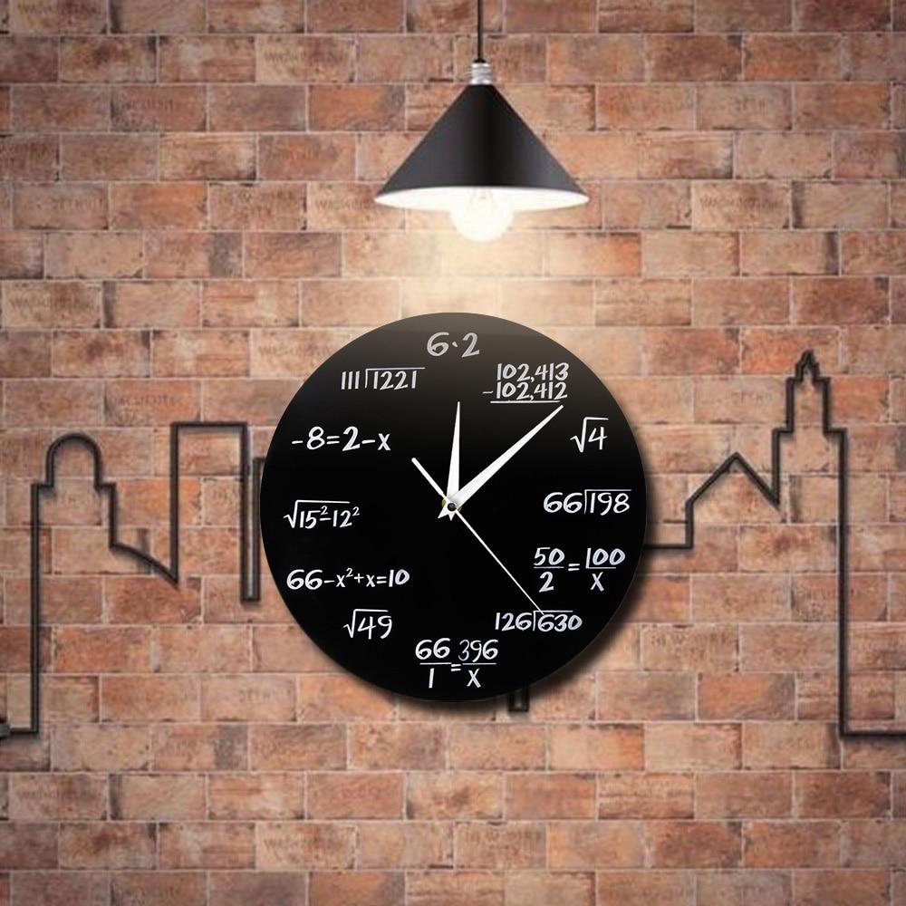 Бесплатная доставка 1 шт номер висит настенные часы поп Викторина Математика настенные часы для любителей Пособия по математике дома декоративные время часы