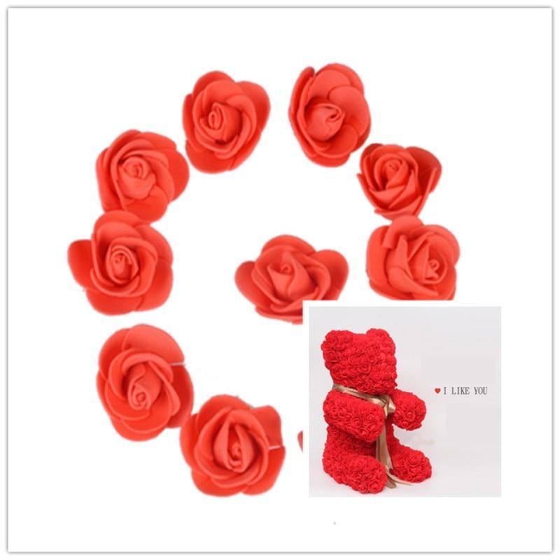 DIY Foam Roses Bear Mold Craft Tools Dog Model Sets Artificial Flowers Heads New