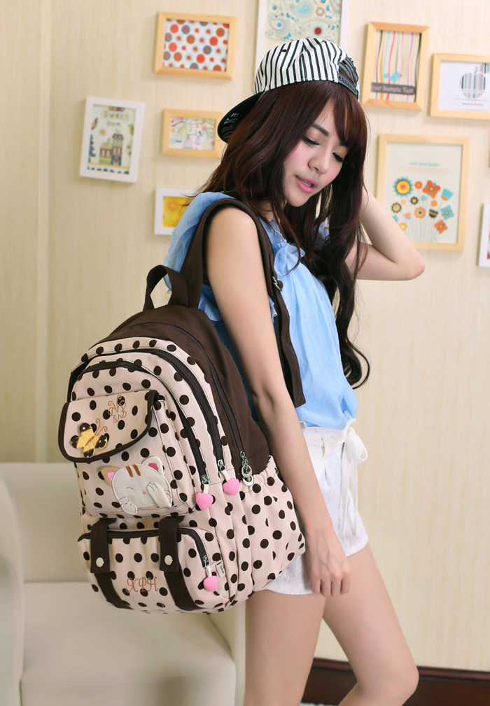Korean version canvas shoulder bag backpack student bag ladies cartoon cute new child birthday gift игровая палатка shantou gepai пчелкин домик сумка 889 127b