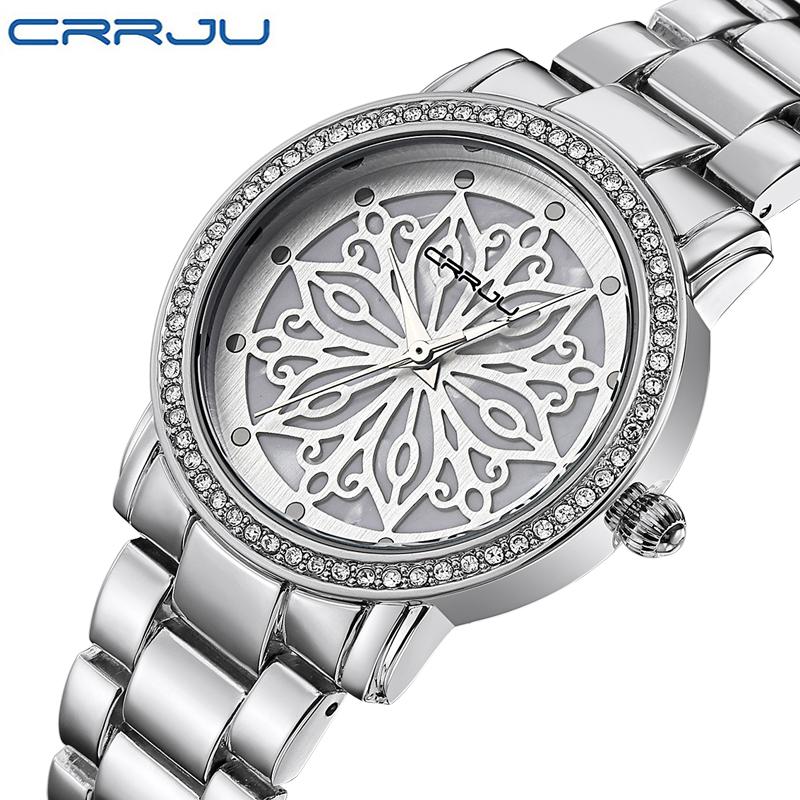 Prix pour 2016 CRRJU Quartz-montre Femmes montres De Luxe célèbre marque Montres femmes Dames femmes les femmes Montres Relogio Femininos
