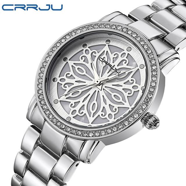 693bc7bdeb2 2016 CRRJU relógio de Quartzo-Mulheres relógios De Luxo famosa marca de  Relógios Das Senhoras