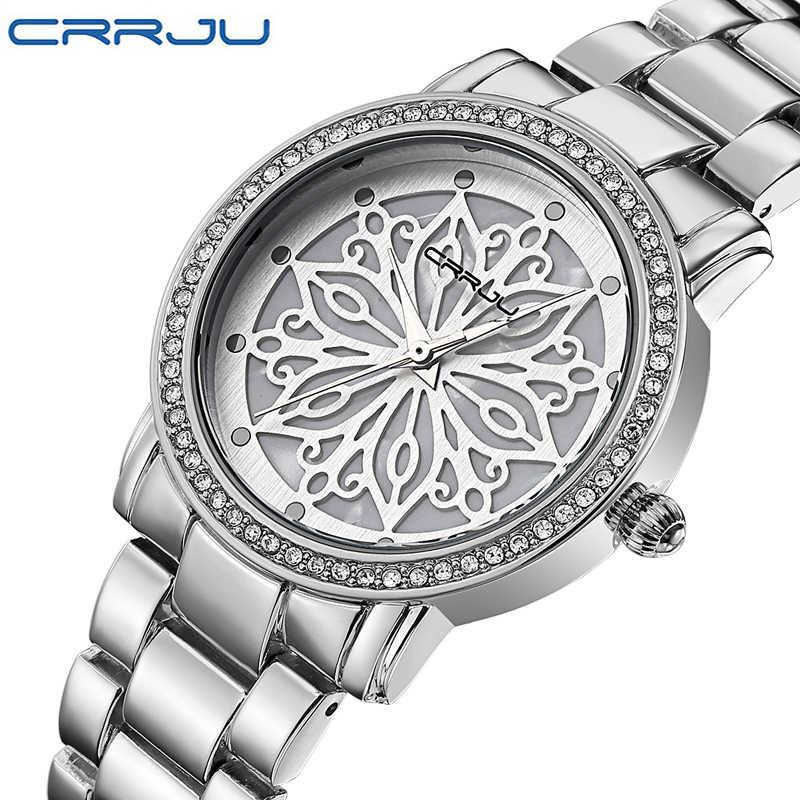 2016 crrju кварц-часы Для женщин Часы роскошные известные бренды Часы Для женщин женские дамы Для женщин наручные Часы Relogio femininos
