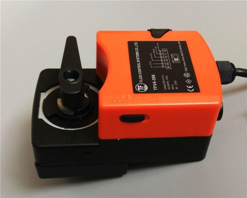 6Nm, AC/DC24V Actuator for proportional valve 0 10V/4 20mA modulating for flow regulation or on/off control