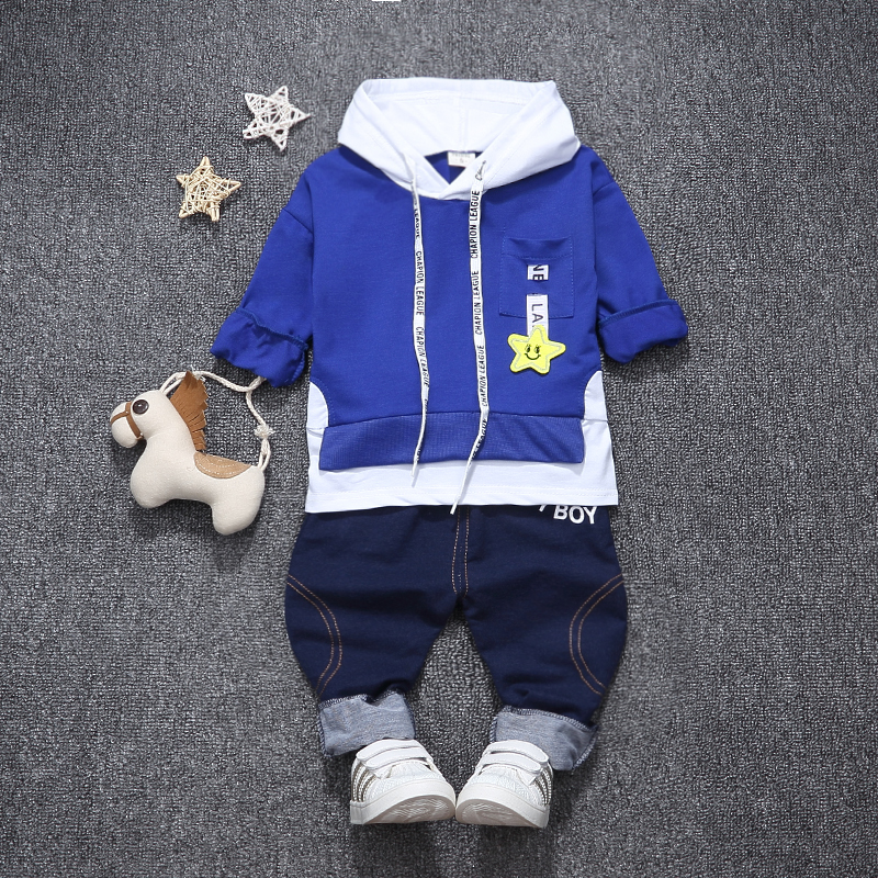 Children Boys Girls Fashion Clothing Suits Kids Spring Autumn Tracksuits Baby Hoodies Pants 2Pcs/sets Toddler Hooded Clothes casual kids hoodies clothes boys clothing 2pcs cotton shirt pants toddler boys clothing children suits baby boy clothes sets