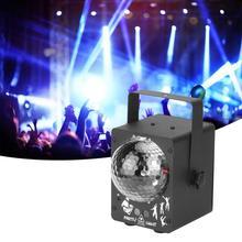 Remote Control Disco LED Stage Light RGB Projector Lights for LED Stage Ligh Party Bar Decor US Plug 100-240V цена 2017