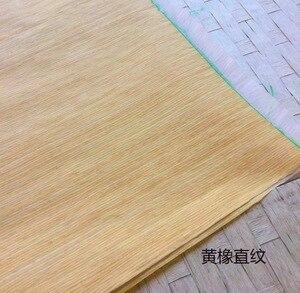 Image 1 - 6 peças/lote l: 2.5 medidores largura: 55cm espessura: tecnologia de 0.25mm em linha reta grão amarelo carvalho casca folheado de madeira