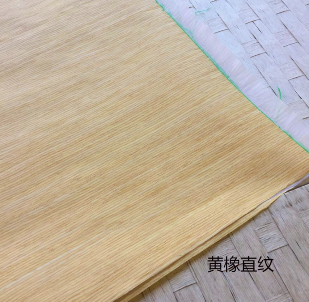 6Pieces/Lot  L:2.5Meter  Width:60cm  Thickness:0.25mm  Technology Straight Grain Yellow Oak Bark Wood Veneer