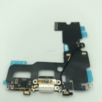 For iphone 7 USB Charging Port Dock Connector Flex Cable with fingerprint damaged Parts Replacement for mobile phone repair