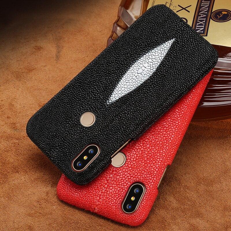 Wangcangli marque véritable peau de serpent étui de téléphone pour xiaomi mi Max 3 téléphone couverture arrière étui de protection en cuir coque de téléphone - 2