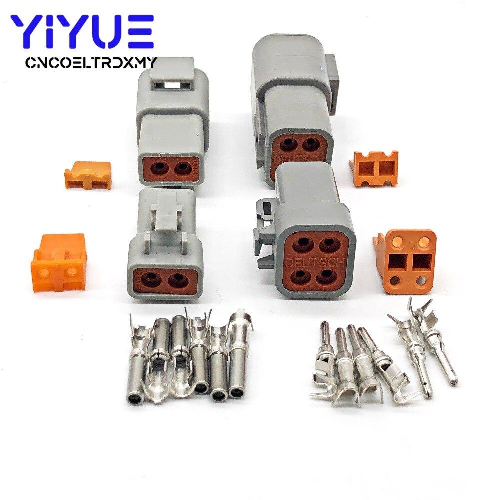 5 Set Deutsch DTP 2/4 Pin Gray Male Female Waterproof Electrical Auto Connectors Plug DTP06 4S/DTP06 2S DTP04 4P/DTP04 2P|Connectors| |  - title=