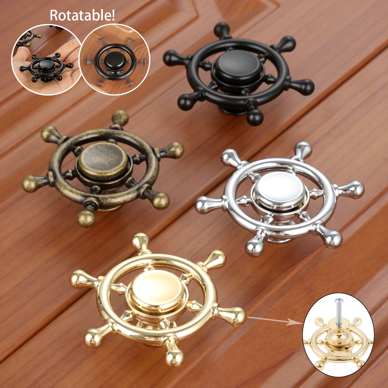 DRELD Creative 71mm Furniture Handle poignee meuble Rotatable Cabinet Knobs and Handles Door Cupboard Drawer Kitchen Pull Handle dreld teapot antique furniture handle alloy drawer door knobs closet cupboard kitchen pull handle cabinet knobs and handles