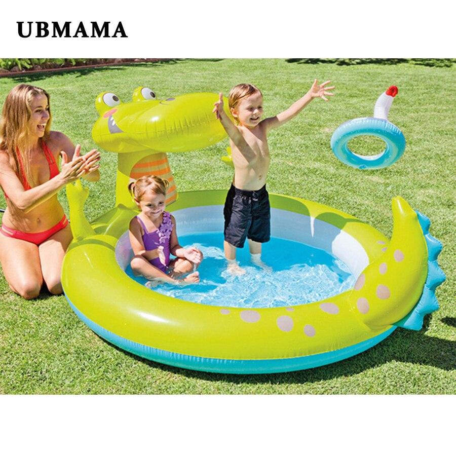 Grande taille en plein air gonflable en plastique piscine famille enfants aire de jeux intéressant bateau style piscine accessoires