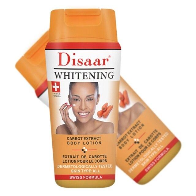Crema Corporal blanqueadora fuerte Natural loción para el cuerpo blanqueamiento piel oscura HIDRATANTE PIEL profunda blanqueamiento cuidado corporal (extracto de zanahoria)