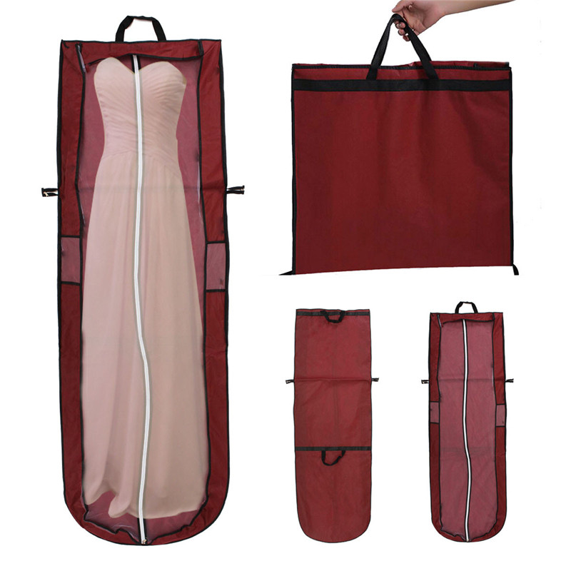 Us 5 39 51 Off Non Woven Bridal Garment Bag Wedding Evening Ball Gown Dress Clothes Storage Boots Easy To Carry In Tool Parts From Tools