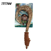 HOT Moana Waialiki Maui Heihei LED Weapons Light Sound Saber Fishing Hook Action Figures Moana Adventure