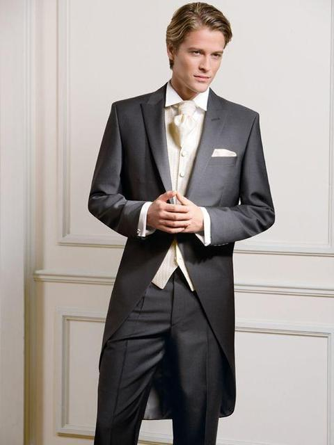 Made Measure Tailcoat Groom Wedding Tuxedos For Men Morning Suits ...
