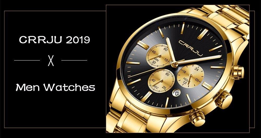 Crrju Sports Date Mens Watches Top Brand Luxury Waterproof Sport Watch Men Ultra Thin Dial Quartz Watch Casual Relogio Masculino 2