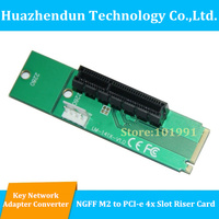 Free Shipping NGFF M2 To PCI E 4X Slot Adapter Card M Key M 2 Port