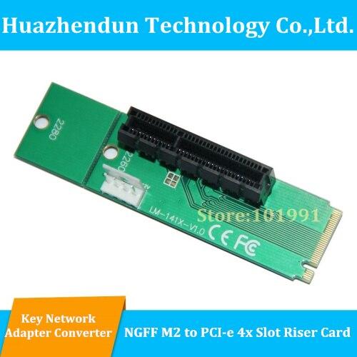 все цены на 3PCS/LOT Free Shipping NGFF M2 to PCI-E 4X Slot Adapter Card  M key M.2 port  SSD Port to PCI Express Expansion Card онлайн
