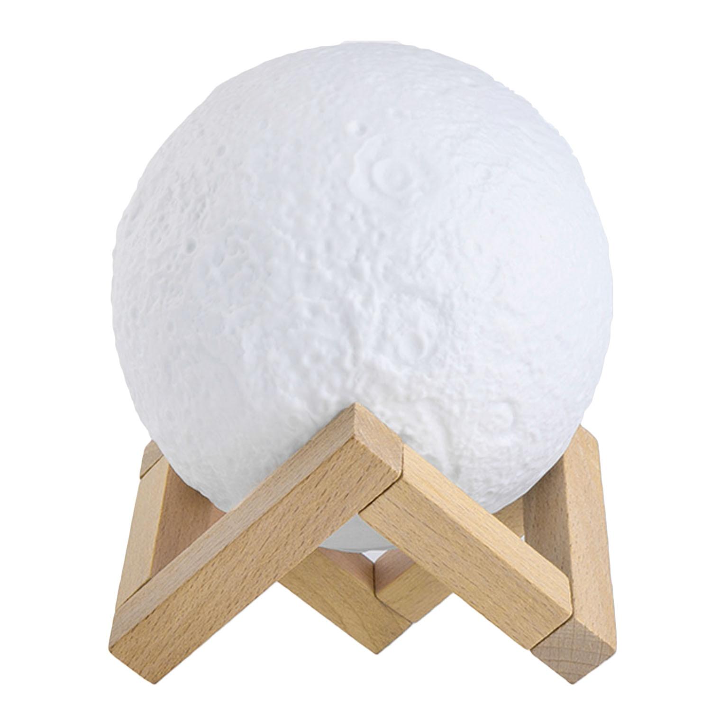ทบทวน 3D Printing Moon Lamp Lunar Usb Charging Touch Control Night Light Nursery Lamp Adjustable Brightness With Wooden Holder Christmas Holiday Birthday Gift 5 9Inch Diameter Intl Unbranded Generic