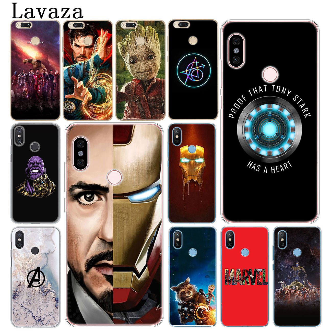 Lavaza <font><b>Marvel</b></font> Avengers Endgame Thanos Iron Man Phone <font><b>Case</b></font> for <font><b>Xiaomi</b></font> <font><b>Redmi</b></font> K20 Pro 8A 7A 5A 6A 4A <font><b>Note</b></font> 8 7 5 <font><b>4</b></font> 4X 6 Pro Cover image