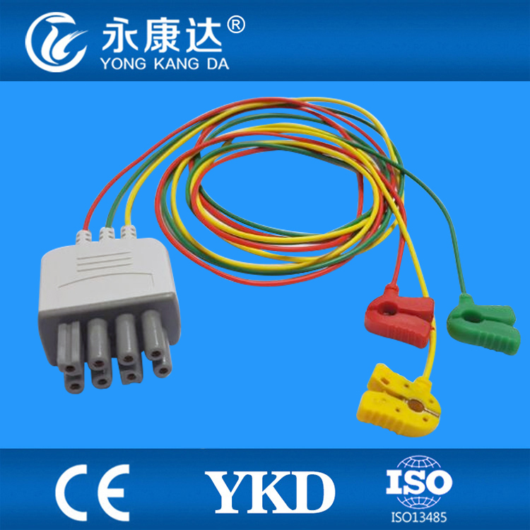 BR-903P Nihon Kohden 3 lead leadwires ECG Cable with CE and ISO 13485 certificates original new for nihon kohden pvm 2700 pvm 2703 pvm 2701 sb 201p x076 monitor rechargeable battery 12v 3700mah free shipping