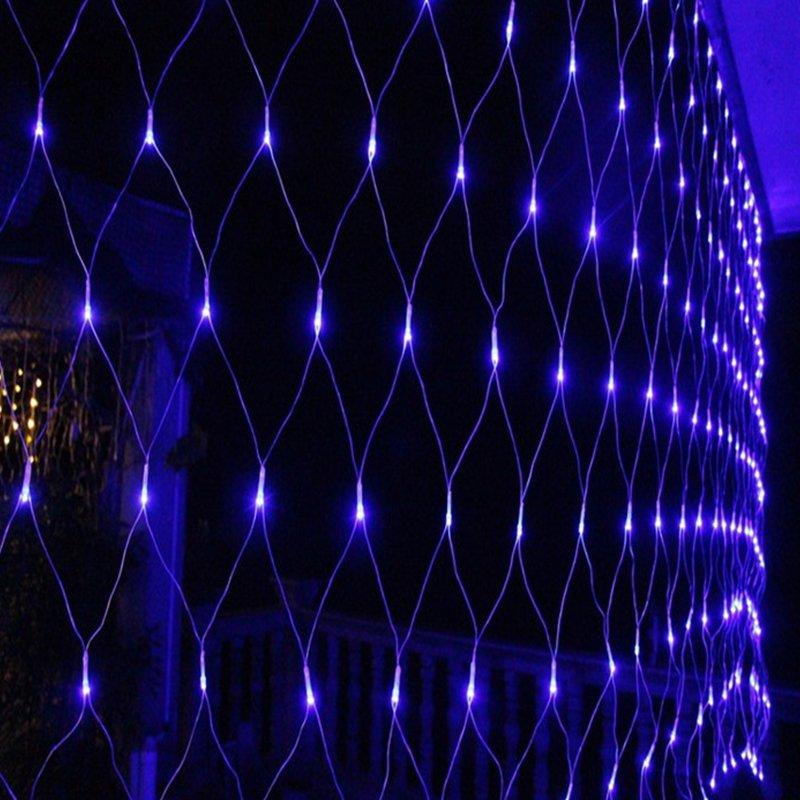 2x2m LED Net Lights Blue Lighting 204 LEDs 8 Modes Christmas Light Net String Lamp Party Wedding Christmas Outdoor Decor EU Plug