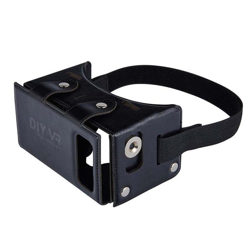 5 Colors <font><b>TOCHIC</b></font> DIY 3D <font><b>VR</b></font> <font><b>Glasses</b></font> Virtual Reality <font><b>Glasses</b></font> Cortex Folding <font><b>Glasses</b></font> Phone Portable PU Leather Game Helmet