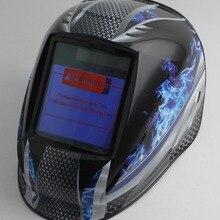 Сварочный шлем с автоматическим затемнением/Сварочная маска(Grand-918I/958I пламя)/MIG MAG TIG/4 дуговой датчик/солнечная батарея и сменные литиевые батареи