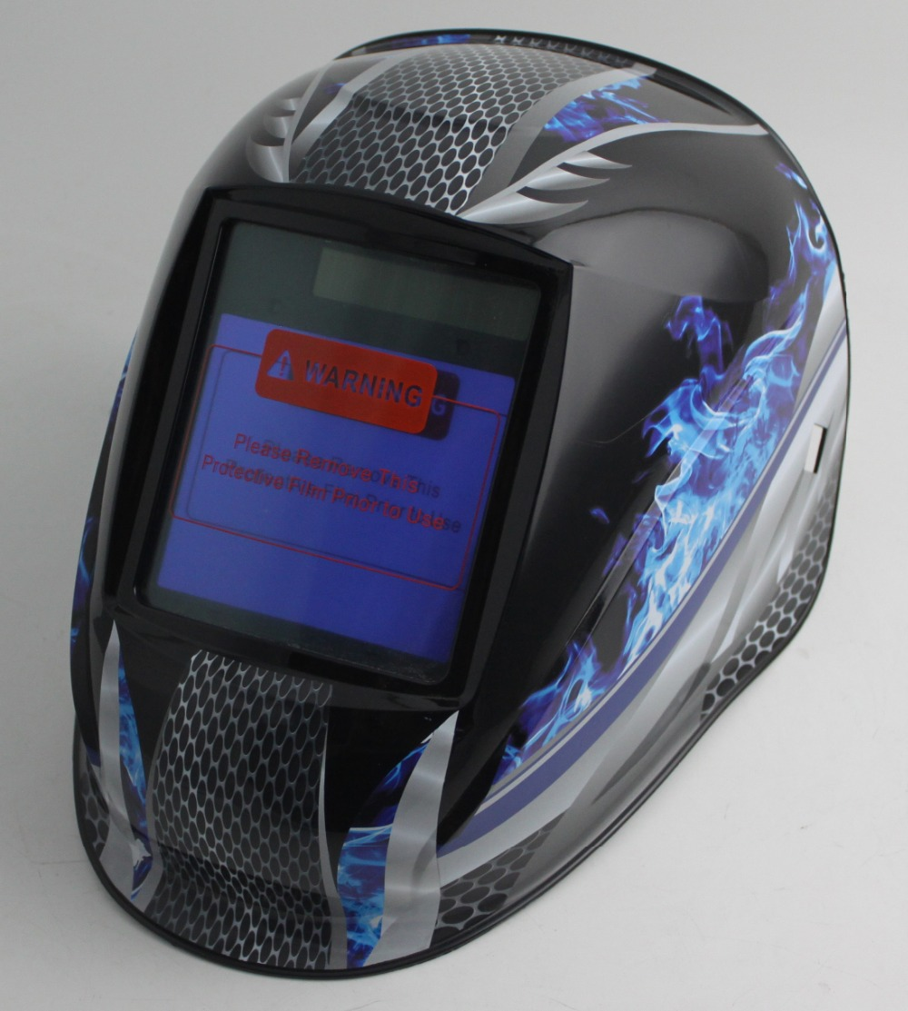Auto darkening welding helmet/welding mask(Grand-918I FLAME)/MIG MAG TIG/4 arc sensor/Solar cell&Replaceable Li-batteries auto darkening welding helmet welding mask mig mag tig grand 918i blue 4arc sensor din4 5 8 9 13
