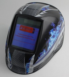 Auto verdunkelung schweiß helm/schweiß maske (Grand-918I/958I FLAMME) /MIG MAG WIG/4 arc sensor/solarzelle & Austauschbare Li-batterien